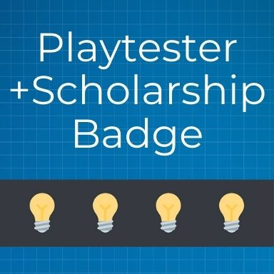 Protospiel Online Playtester +Scholarship Badge